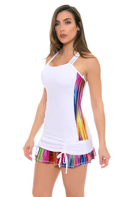Colourfall White Ambition Tennis Skirt TA-DFT8051-White Image 4