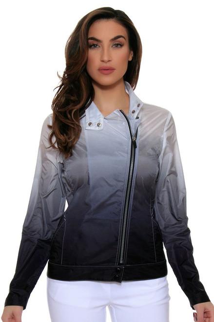 EP Pro Women's Power Play Ombre Dip Dye Asymmetric Moto Jacket EP-6730LC Image 4