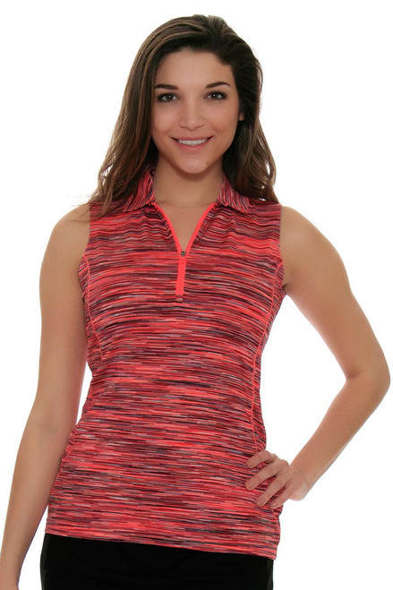 EP Sport Women's Mahalo Kauai Space-Dye Golf Sleeveless Shirt ES-6425SHB Image 4