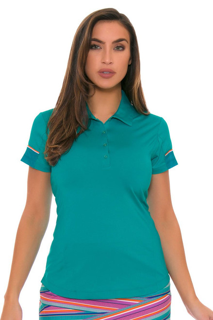 EP Pro Women's Cassis Snap Placket Golf Cap Sleeve Shirt EP-5743LD Image 4