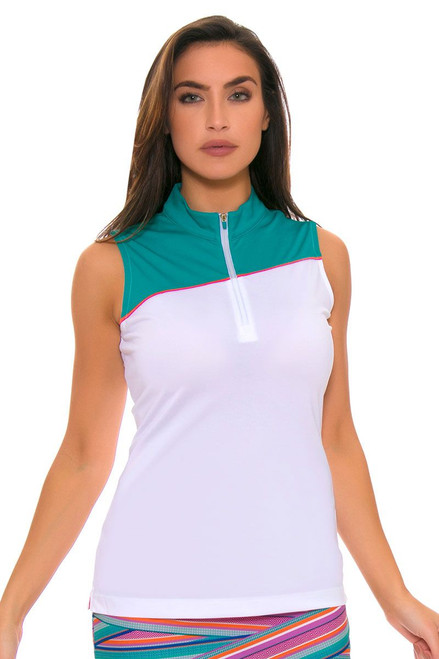 EP Pro Women's Cassis Contrast Blocking Golf Sleeveless Shirt EP-5745LD Image 4