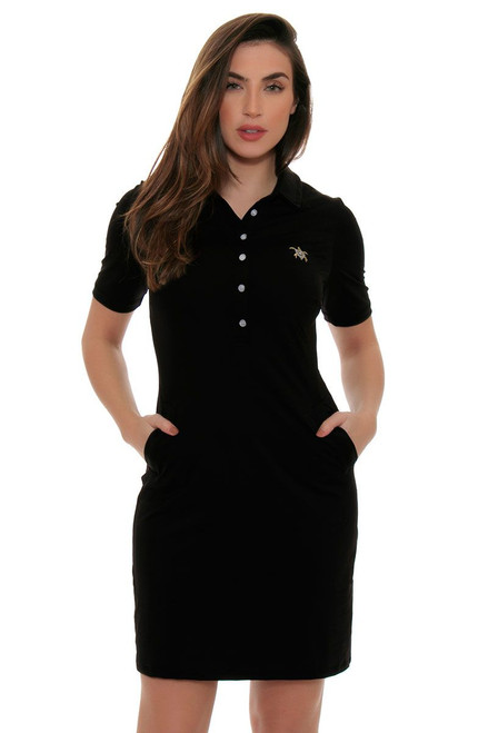 Tee 2 Sea Women's Little Black Short Sleeve Golf Dress T2S-1130LB Image 4