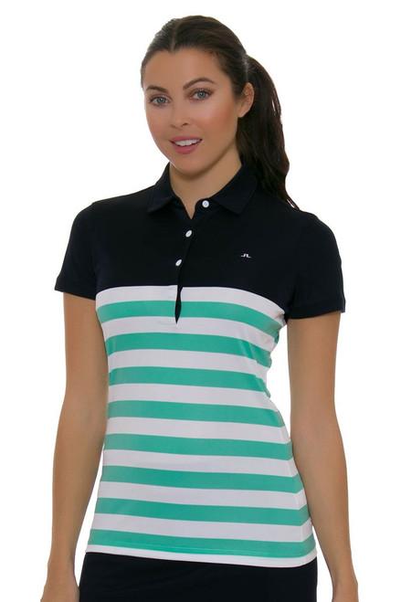 J. Lindeberg Women's Caroline Navy Golf Short Sleeve