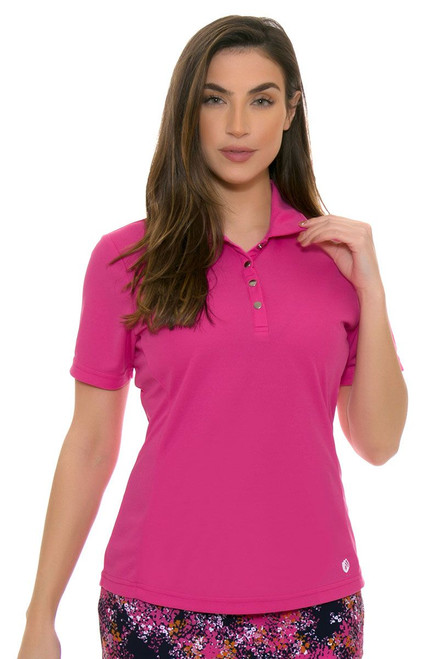 GGBlue Women's Venezuela Tina Cerise Golf Polo Shirt GG-BE808 Image 4