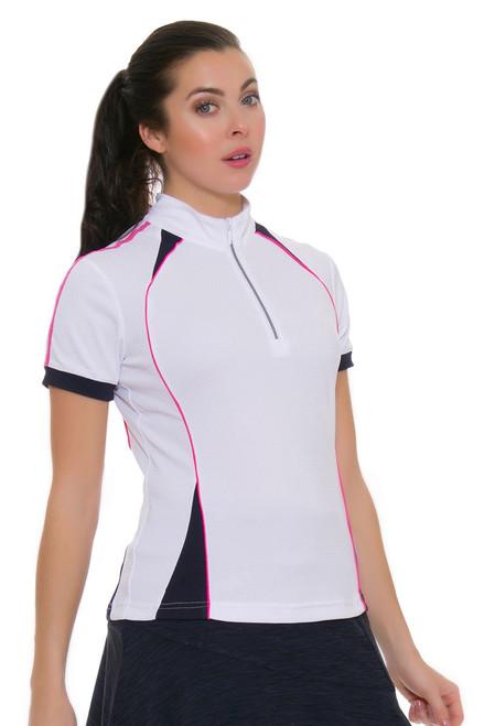 GGBlue Women's Venezuela Junie White Golf Polo Shirt GG-E1018-1712 Image 4