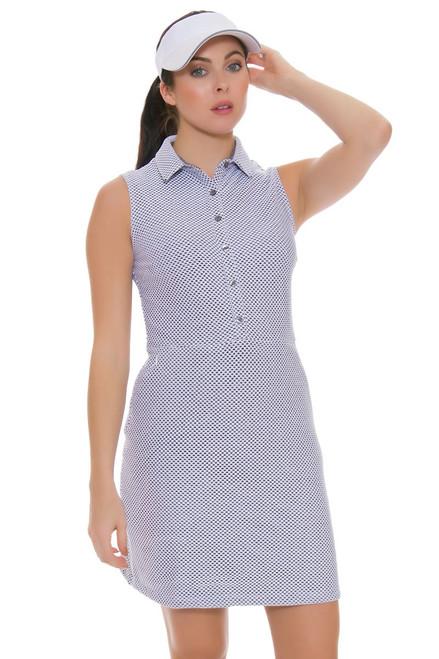 Dagny Scout Grey Melange Mesh Golf Dress