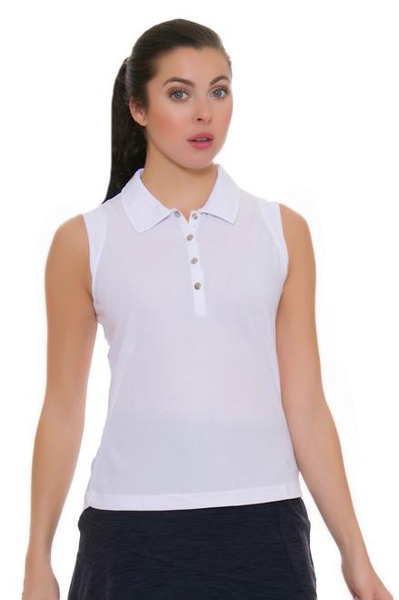 GGBlue Women's Venezuela Leah White Golf Sleeveless GG-BE849-A001 Image 4