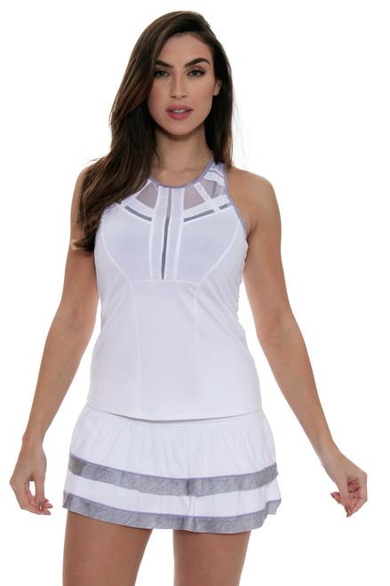 Lucky In Love Women's Snake Charmer Border Tier Tennis Skirt