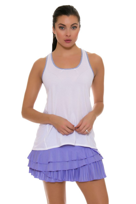 Lucky In Love Women's Snake Charmer Rally Pleat Tier Lilac Tennis Skirt LIL-CB161-515