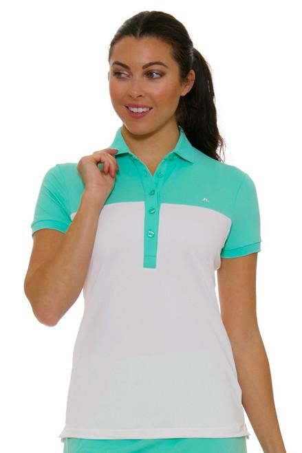 J. Lindeberg Women's Carin Mint Golf Short Sleeve JL-72WG536935088 Image 4