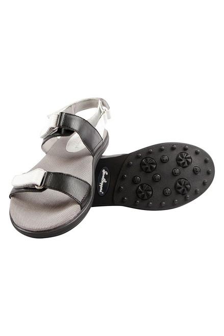 Sandbaggers Women's Black & White Lola Golf Sandals SB-LOLABLKWHT Image 3