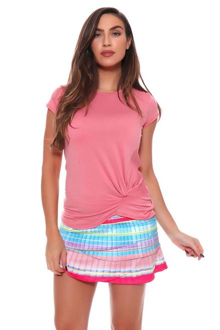 Lucky In Love Women's Print Medley Pleats Please Tennis Skirt LIL-CB185-502955 Image 4