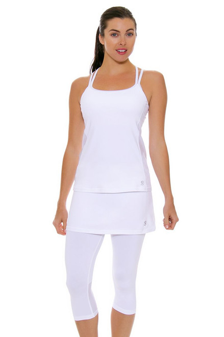 Sofibella Women's Victory Abaza White Tennis Skirt Leggings SFB-1526-white Image 4
