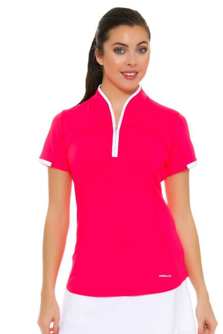 Annika Women's Trellis Lily Mock Golf Short Sleeve Top