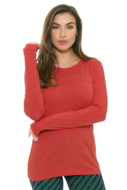 Tasc Performance Women's Red Sky Nola Long Sleeve Top TA-T-W-416H-610 Image 4