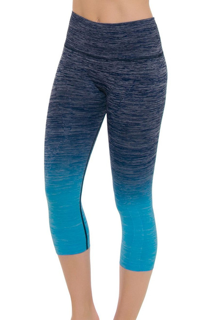 Electric Yoga Women's Spring Faded Turquoise Workout Capri EY-301512 Image 4