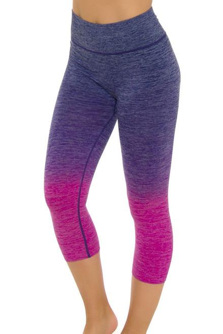 Electric Yoga Women's Spring Faded Purple Workout Capri EY-301512-Purple Image 4