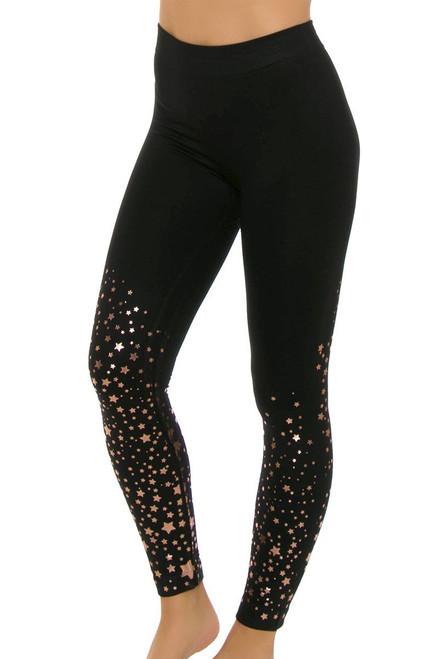 Electric Yoga Women's Gold Stars Legging EY-501514 Image 4