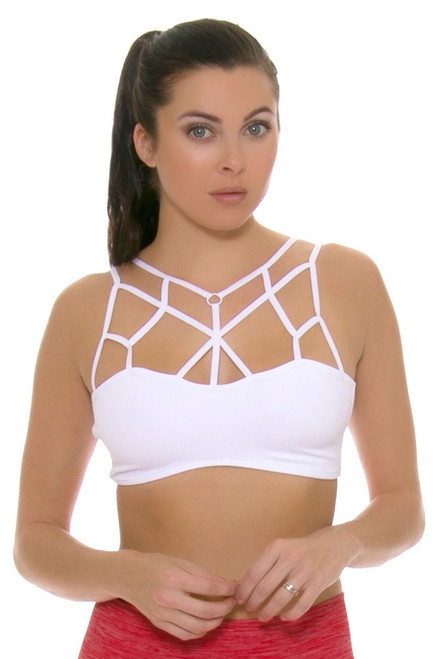 Electric Yoga Women's Spring Loving White Sports Bra EY-501804 Image 4
