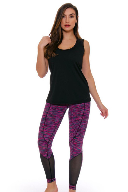 TLF Women's Spring Ryder Sangria Space Dye Workout Legging TLF-36023-0000-108 Image 4
