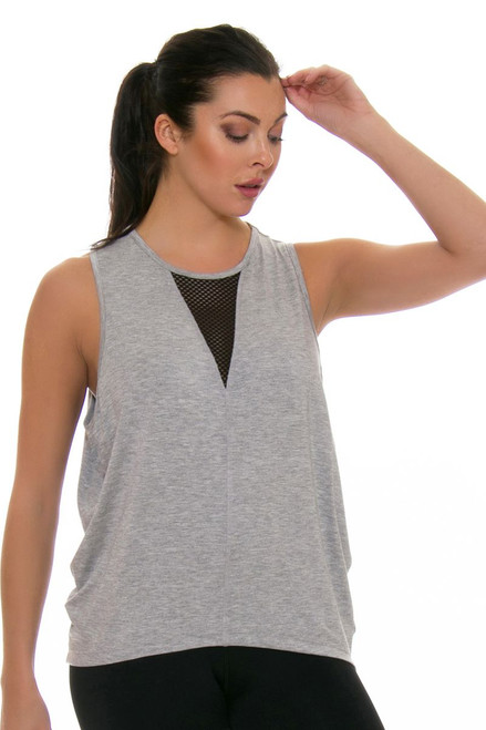 ChiChi Active Women's Jade Muscle Heather Grey Workout Tank CA-VN3-11204HG Image 4