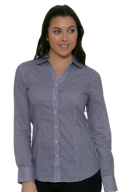 Cutter & Buck Women's Tattersall Long Sleeve Polo