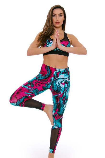 TLF Women's Spring Ryder Marblelized Workout Legging TLF-36023-0000-109 Image 4