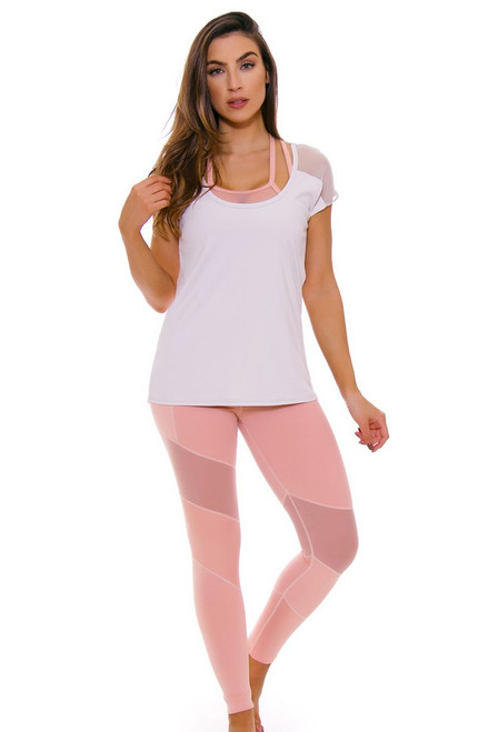 TLF Women's Spring Margoux Blush Rebus Workout Legging TLF-36028-0000-111 Image 4