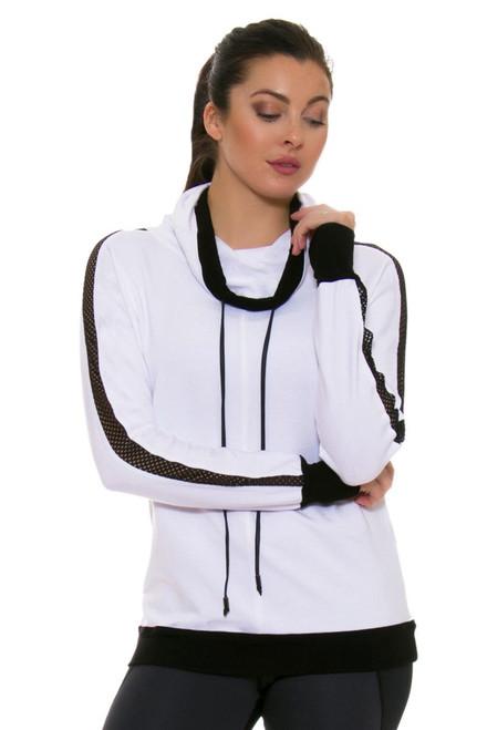 ChiChi Active Women's Audrey Hooded White Sweatshirt CA-VN3-80109 Image 4