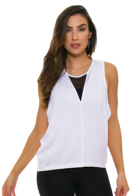 ChiChi Active Women's Jade Muscle White Workout Tank CA-VN3-11209 Image 4