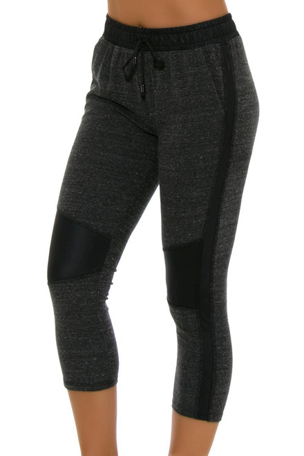 ChiChi Active Women's Michelle Cropped Moto Charcoal Workout Jogger CA-VN3-60704 Image 4