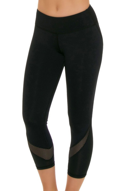 ChiChi Active Women's Tatiana Black Workout Capri CA-HW3-60601 Image 4
