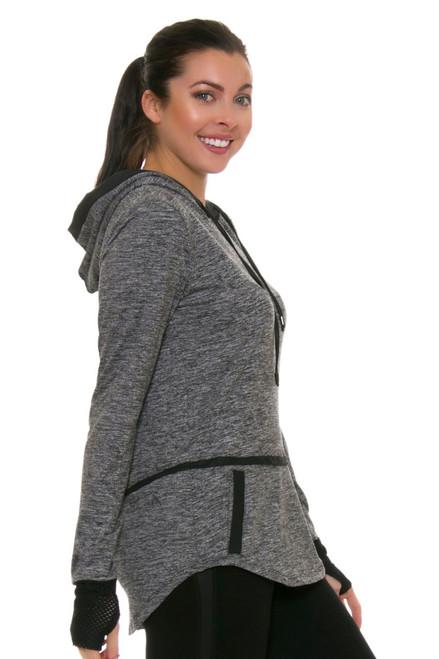 ChiChi Active Women's Veronica Hooded Heather Grey Pullover CA-LJ3-90204B Image 4