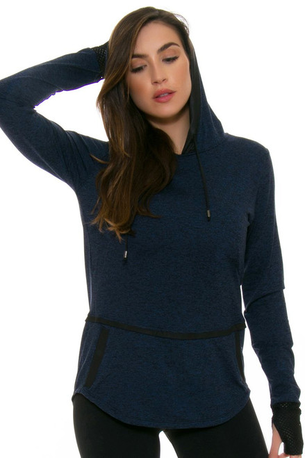 ChiChi Active Women's Veronica Hooded Navy Pullover CA-LJ3-90202B Image 4