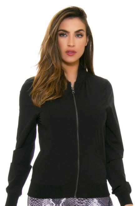 PrismSport Women's Bomber Black Jacket PS-3005BOM-BLK Image 4