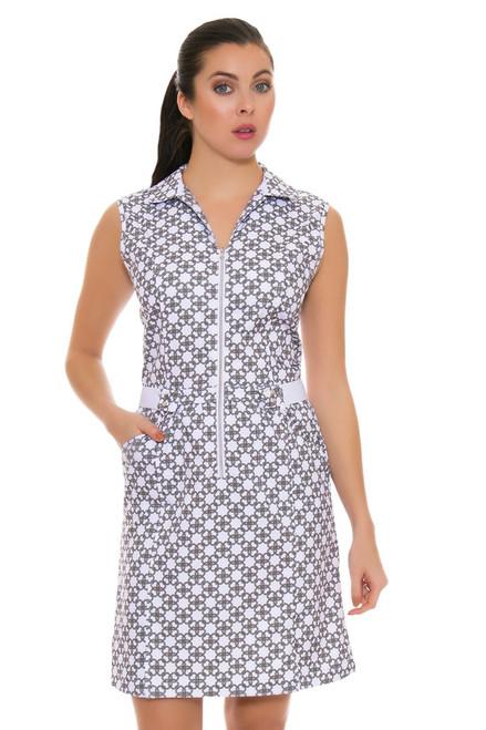 Cracked Wheat Womens Chain Print Golf Dress