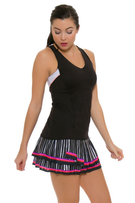 Lucky In Love Women's Outside the Lines Turn It Up Pleat Tier Tennis Skirt LIL-CB190-146807