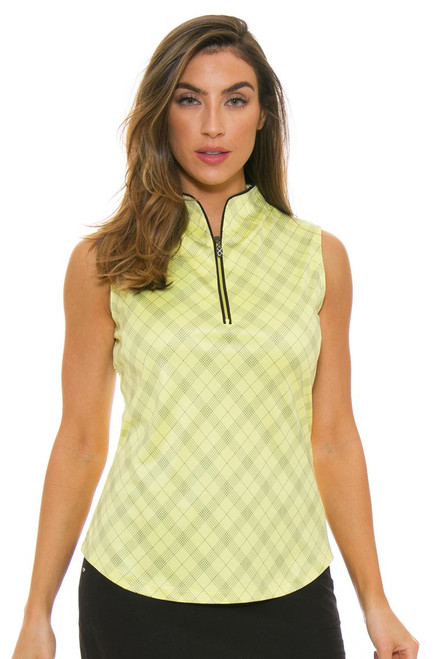 Greg Norman Women's Bias Plaid Sleeveless GN-G2S7K108 Image 4