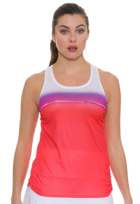 Lucky In Love Women's Outside the Lines Fresh Cinch Flame Tennis Tank LIL-CT328-165807