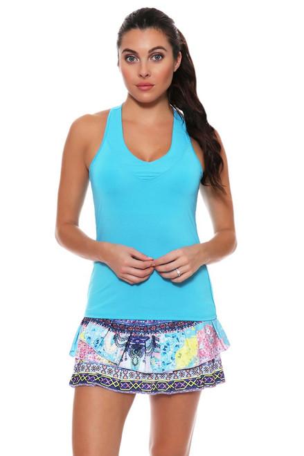 Lucky In Love Women's Print Medley Festival Pleat Tier Tennis Skirt LIL-CB179-215955 Image 4