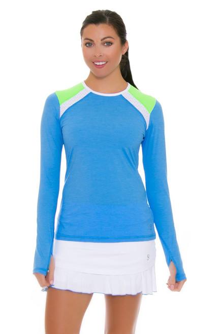 Sofibella Women's Triumph Layered Flounce 14 White Tennis Skirt