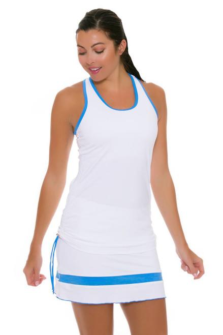 "Sofibella Women's Triumph Straight Pull On 15"" White Tennis Skirt SFB-1687 Image 4"