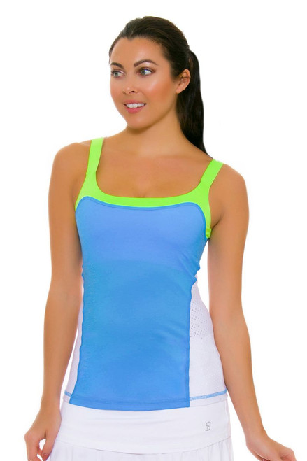 Sofibella Women's Triumph Athletic Sky Blue Cami Tennis Tank