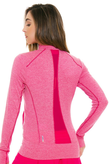 Lole Women's Spring Essential Up Rose Heather Zip Up Jacket LO-LSW2196-K434 Image 4