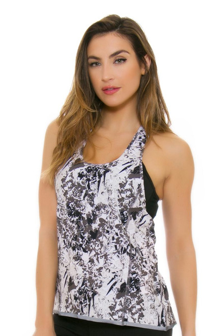 Lole Women's Spring Jazna Charcoal Fleurs Workout Tank LO-LSW2197-G651 Image 4