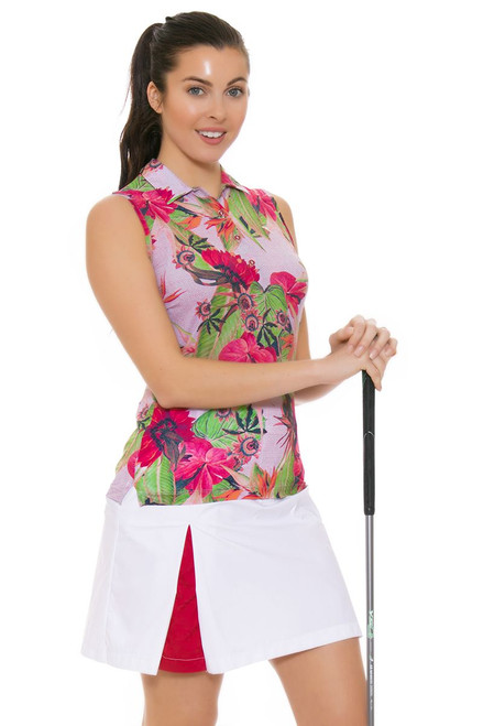 Chervo Women's Tropical Emotion Josefa White Golf Skort