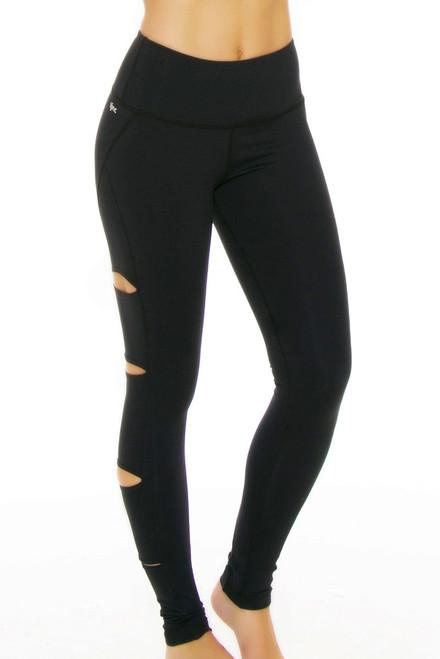Tonic Active Women's Peek Cutout Workout Legging TA-SP7043 Image 4
