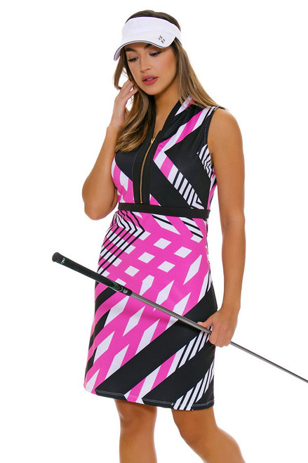 Allie Burke Fine Lines Print Golf Dress