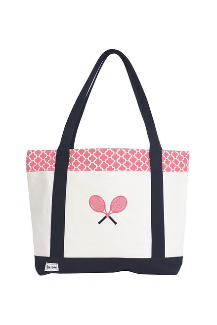 Ame & Lulu Women's Tennis Lovers Tote AL-Tennis Lovers Tote