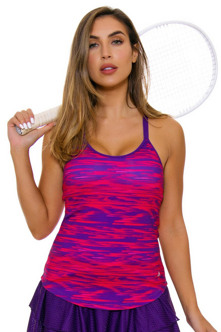 Solfire Women's Speed Double Up Acai Electric Pink Tennis Tank SF-F5W101-R412 Image 4
